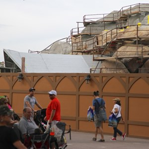 7 of 19: Fantasyland - Seven Dwarfs Mine Train coaster construction