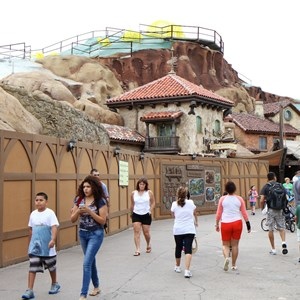 8 of 19: Fantasyland - Seven Dwarfs Mine Train coaster construction