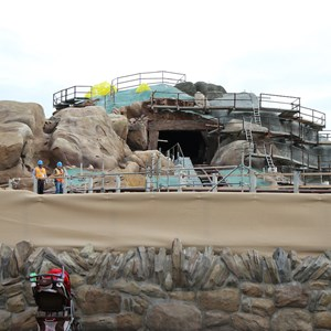 11 of 19: Fantasyland - Seven Dwarfs Mine Train coaster construction