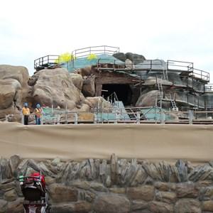 11 of 19: Fantasyland - Seven Dwarfs Mine Train coaster construction