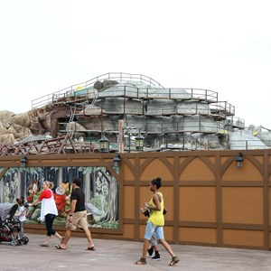 13 of 19: Fantasyland - Seven Dwarfs Mine Train coaster construction