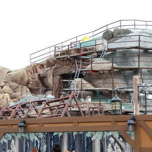 14 of 19: Fantasyland - Seven Dwarfs Mine Train coaster construction