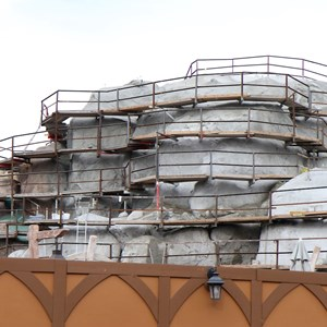 16 of 19: Fantasyland - Seven Dwarfs Mine Train coaster construction