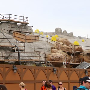 17 of 19: Fantasyland - Seven Dwarfs Mine Train coaster construction