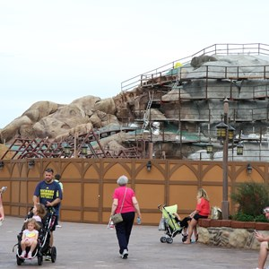 19 of 19: Fantasyland - Seven Dwarfs Mine Train coaster construction