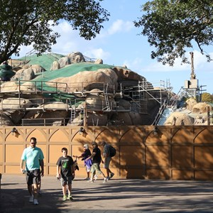 1 of 22: Fantasyland - Seven Dwarfs Mine Train coaster construction
