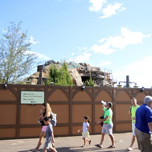 4 of 22: Fantasyland - Seven Dwarfs Mine Train coaster construction
