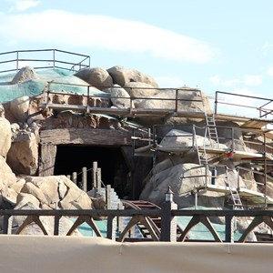 7 of 22: Fantasyland - Seven Dwarfs Mine Train coaster construction