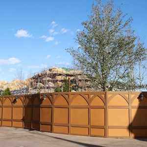 9 of 22: Fantasyland - Seven Dwarfs Mine Train coaster construction