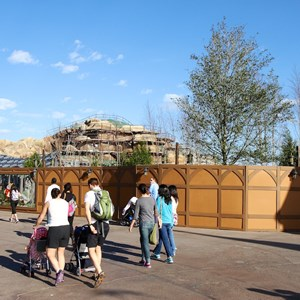 10 of 22: Fantasyland - Seven Dwarfs Mine Train coaster construction
