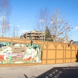 11 of 22: Fantasyland - Seven Dwarfs Mine Train coaster construction