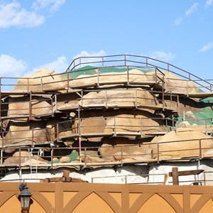 16 of 22: Fantasyland - Seven Dwarfs Mine Train coaster construction
