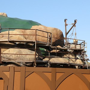 20 of 22: Fantasyland - Seven Dwarfs Mine Train coaster construction