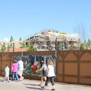 1 of 14: Fantasyland - Seven Dwarfs Mine Train coaster construction