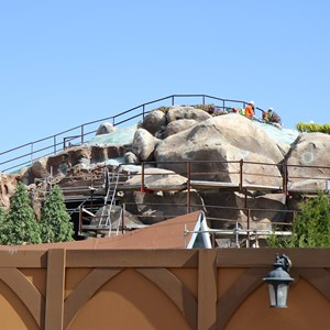 2 of 14: Fantasyland - Seven Dwarfs Mine Train coaster construction