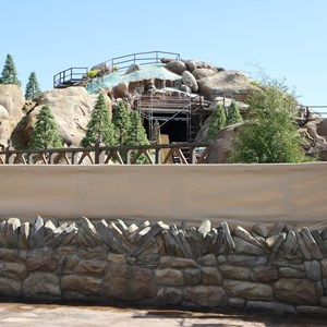 4 of 14: Fantasyland - Seven Dwarfs Mine Train coaster construction