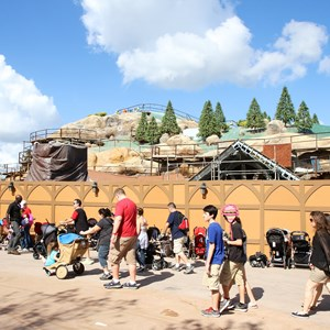 9 of 14: Fantasyland - Seven Dwarfs Mine Train coaster construction