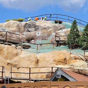 11 of 14: Fantasyland - Seven Dwarfs Mine Train coaster construction