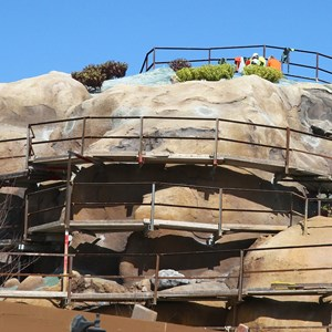 13 of 14: Fantasyland - Seven Dwarfs Mine Train coaster construction