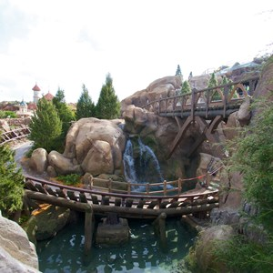 3 of 11: Fantasyland - Walls down to reveal more of Seven Dwarfs Mine Train Coaster
