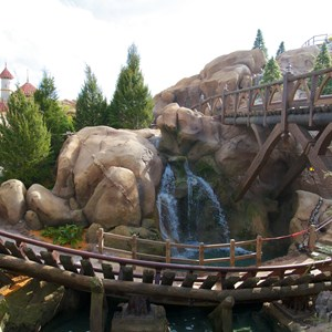 1 of 11: Fantasyland - Walls down to reveal more of Seven Dwarfs Mine Train Coaster