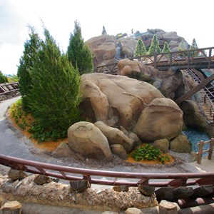 2 of 11: Fantasyland - Walls down to reveal more of Seven Dwarfs Mine Train Coaster