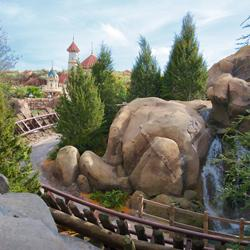 Walls down to reveal more of Seven Dwarfs Mine Train Coaster