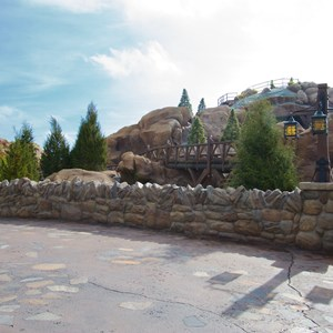6 of 11: Fantasyland - Walls down to reveal more of Seven Dwarfs Mine Train Coaster