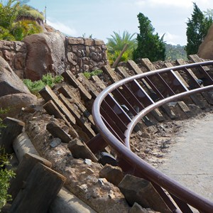 7 of 11: Fantasyland - Walls down to reveal more of Seven Dwarfs Mine Train Coaster