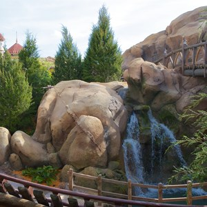 8 of 11: Fantasyland - Walls down to reveal more of Seven Dwarfs Mine Train Coaster