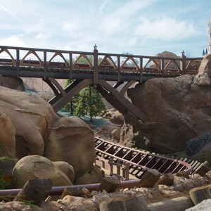 9 of 11: Fantasyland - Walls down to reveal more of Seven Dwarfs Mine Train Coaster