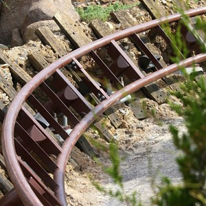 11 of 11: Fantasyland - Walls down to reveal more of Seven Dwarfs Mine Train Coaster