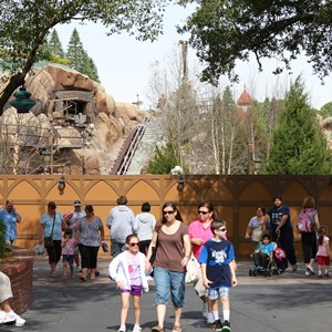 1 of 21: Fantasyland - Seven Dwarfs Mine Train coaster construction
