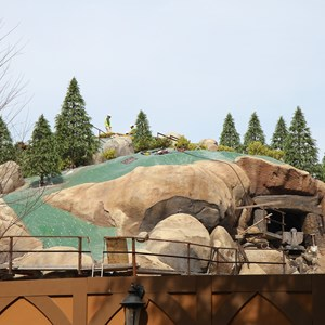 2 of 21: Fantasyland - Seven Dwarfs Mine Train coaster construction