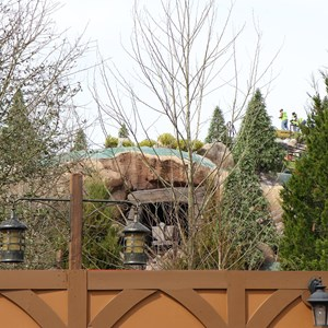 3 of 21: Fantasyland - Seven Dwarfs Mine Train coaster construction