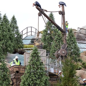 4 of 21: Fantasyland - Seven Dwarfs Mine Train coaster construction
