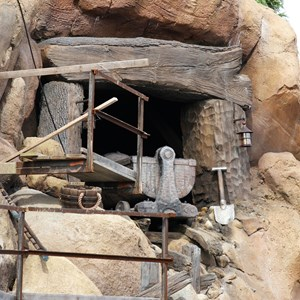 5 of 21: Fantasyland - Seven Dwarfs Mine Train coaster construction