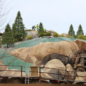 6 of 21: Fantasyland - Seven Dwarfs Mine Train coaster construction