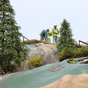 7 of 21: Fantasyland - Seven Dwarfs Mine Train coaster construction