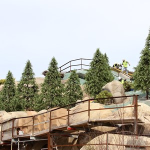 9 of 21: Fantasyland - Seven Dwarfs Mine Train coaster construction