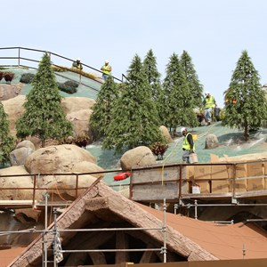 10 of 21: Fantasyland - Seven Dwarfs Mine Train coaster construction