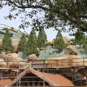 12 of 21: Fantasyland - Seven Dwarfs Mine Train coaster construction