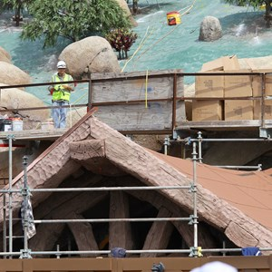 13 of 21: Fantasyland - Seven Dwarfs Mine Train coaster construction