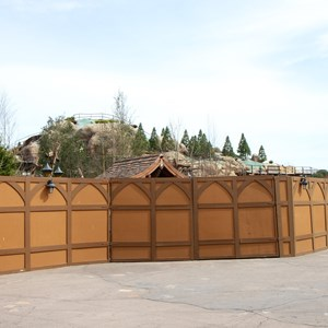 16 of 21: Fantasyland - Seven Dwarfs Mine Train coaster construction