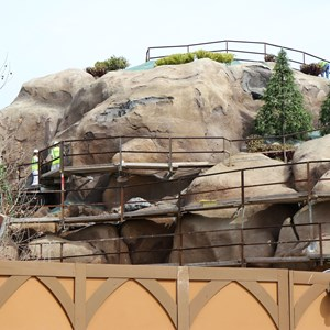 18 of 21: Fantasyland - Seven Dwarfs Mine Train coaster construction