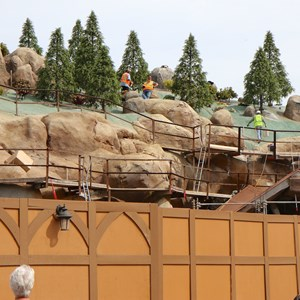 19 of 21: Fantasyland - Seven Dwarfs Mine Train coaster construction
