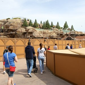 20 of 21: Fantasyland - Seven Dwarfs Mine Train coaster construction