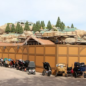 21 of 21: Fantasyland - Seven Dwarfs Mine Train coaster construction