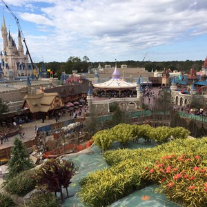 1 of 1: Fantasyland - View from the top of the Seven Dwarfs Mine Train