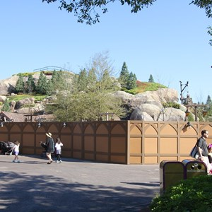 9 of 15: Fantasyland - Seven Dwarfs Mine Train coaster construction